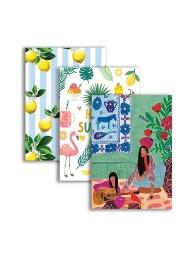 LWP Shop Üçlü Capri, Florida, Santorini Tasarım Defter Renkli